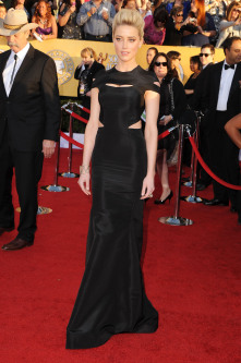 Amber Heard in Zac Posen at the SAG Awards--i love the cut outs and the conservative yet sexy shape