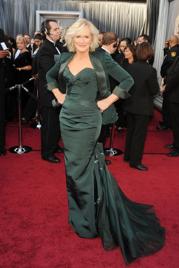 Glenn Close in Zac Posen at the Oscars--perfect silhouette