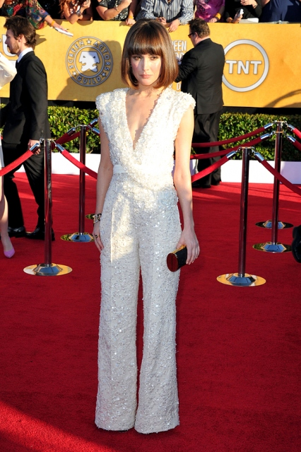 Rose Byrne in Elie Saab at the SAG Awards--incredible and adventurous! i LOVE a jumpsuit...so unexpected and so fabulous!