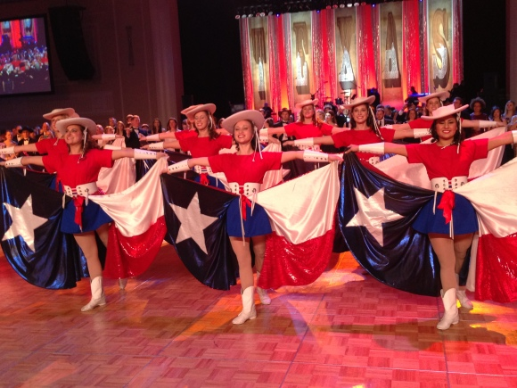 The Rangerettes in action