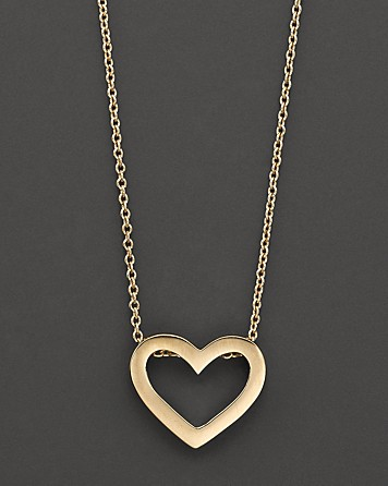 The Splurge: Roberto Coin Gold Heart Necklace (found here)