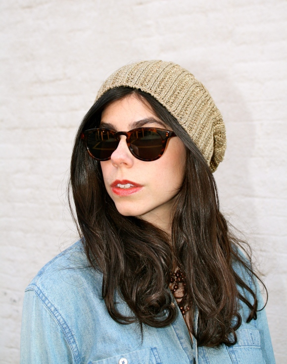 the beanie is a winter necessity! i love this one because of its sparkles of gold, which makes it a bit more feminine.