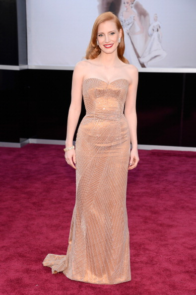 Jessica Chastain in Armani Prive