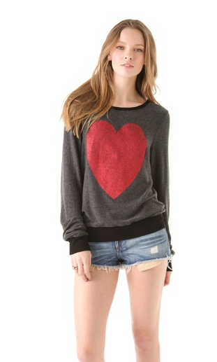 The middy: Heart Sweatshirt by Wildfox (found here)