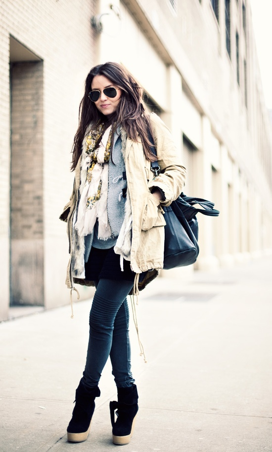 The iconic item jacket is fabulous but rarely warm enough, unless layered with a cozy sweater and fabulous scarf.
