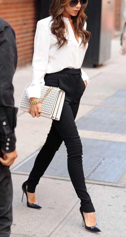 Victoria Beckham black and white