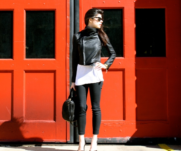 This perforated leather jacket is my latest obsession for spring!
