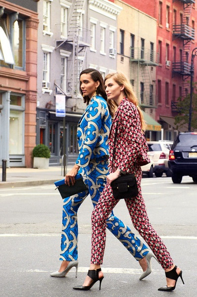 I mean....you can't go wrong with a perfectly tailored printed suit.  Please get in my closet!