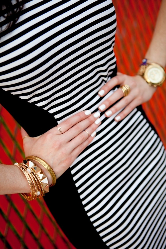 It's in the details.  Jewelry by She's Unique, Gossip on 23rd, Michael Kors and Urban Outfitters, Charm Georgetown.