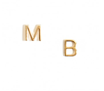 Alphabet stud
